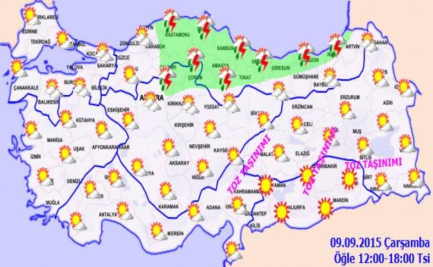 Hava sıcaklığının iç bölgelerde düşmesi bekleniyor
