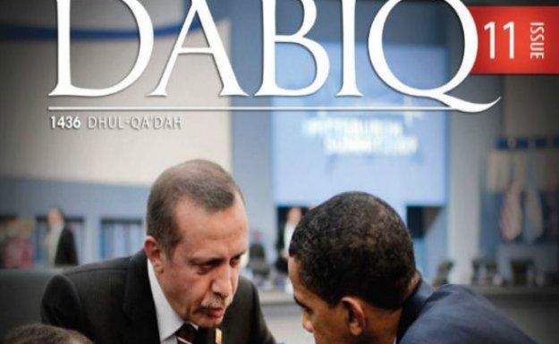 Erdoğan ve Obama IŞİD dergisinin kapağında