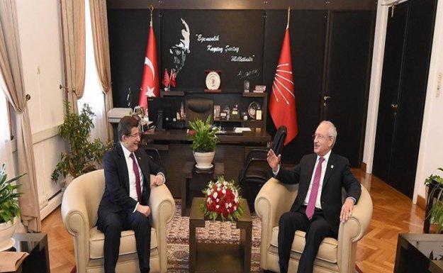 Davutoğlu ve Kılıçdaroğlu Görüşüyor