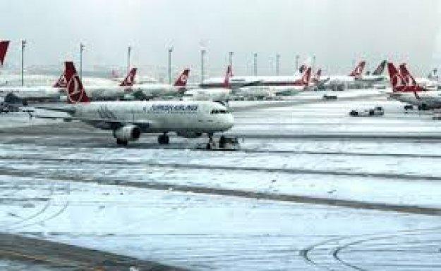 Kar Nedeniyle Havayolu Ulaşımında Aksamalar Sürüyor