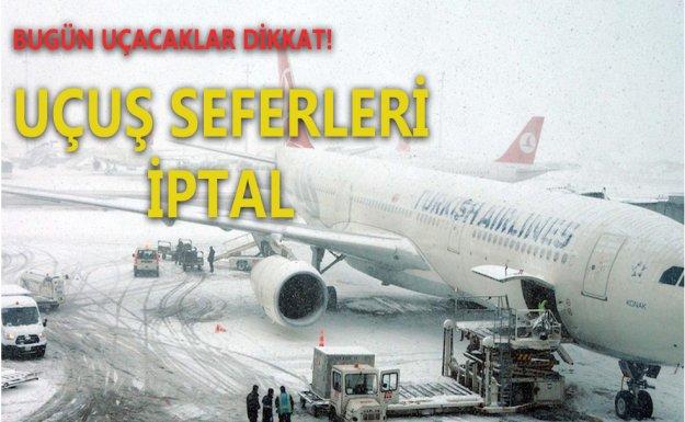 İstanbul'da 201 Uçuş İptal