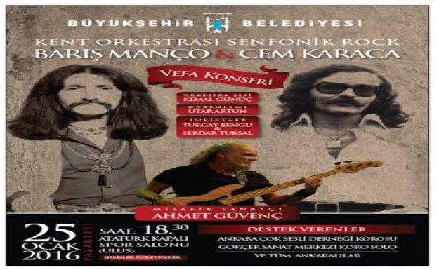 Ankara'da Barış Manço Cem Karaca Vefa Konseri