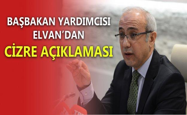 Başbakan Yardımcısı Elvan Cizre'yle İlgili Açıklama Yaptı