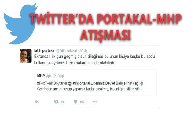 Twitter'da MHP-Portakal Atışması