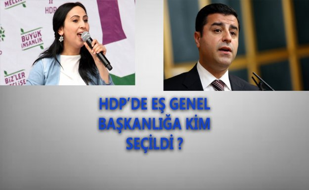 HDP'de Eş Genel Başkanlığa Yüksekdağ Ve Demirtaş Seçildi