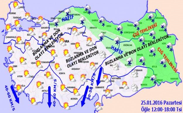 Hava Sıcaklığı İç ve Doğu Kesimlerde Düşüyor