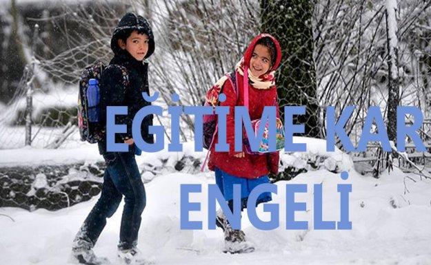 Tokat' ın Niksar İlçesinde Eğitime Kar Engeli