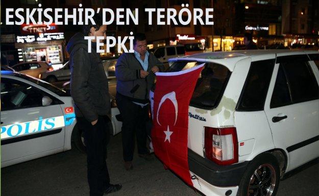 Eskişehir'den Teröre Tepki Konvoyu