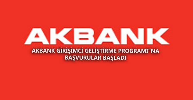 Akbank Girişimci Geliştirme Başvuruları Başladı