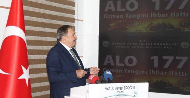 Bakan Eroğlu: Yanan Alanları Bir Yıl İçinde Yeniden Ağaçlandırıyoruz