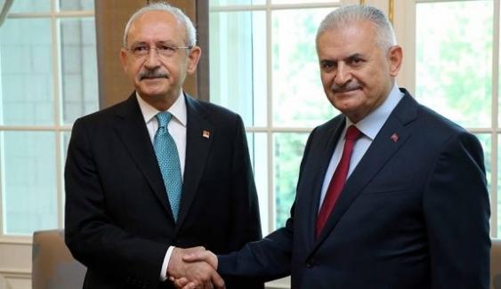 Başbakan Yıldırım ile Kılıçdaroğlu Görüşmesi Başladı