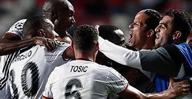 Beşiktaş, Benfica'dan Beraberlikle Dönüyor