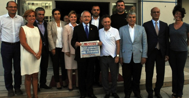 CHP Lideri Kılıçdaroğlu Sözcü Gazetesini Ziyaret Etti