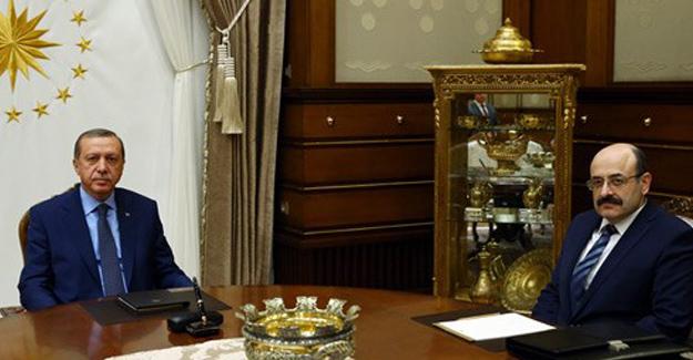 Cumhurbaşkanı Erdoğan, YÖK Başkanı Prof. Dr. Yekta Saraç'ı Kabul Etti.