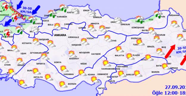 Hava Sıcaklığı İç ve Doğu Kesimlerde Artacak