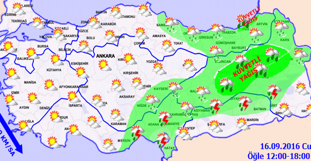 Kuvvetli Yağış Doğuda Etkili Olacak