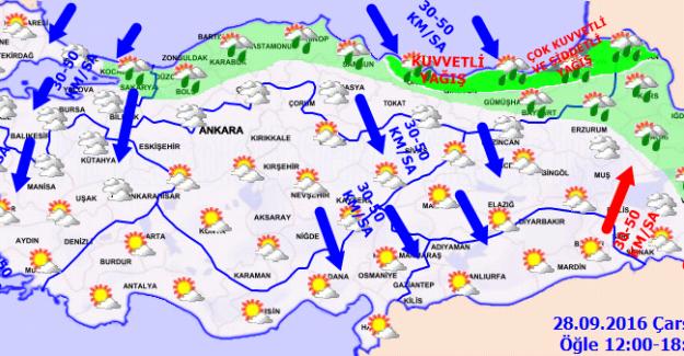 Meteoroloji'den Karadeniz'de Yoğun Yağış Uyarısı