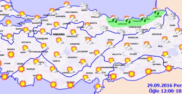 Orta ve Doğu Karadeniz Kıyıları Yağışlı Geçecek