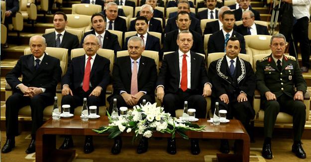 Cumhurbaşkanı Erdoğan, AYM'de Düzenlenen Ant İçme Törenine Katıldı