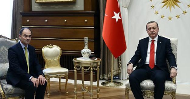 Cumhurbaşkanı Erdoğan Rolls-Royce CEO'su Warren East'i Kabul Etti