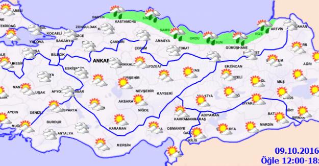 Sıcaklık Karadeniz'de 10 Derece Düşüyor