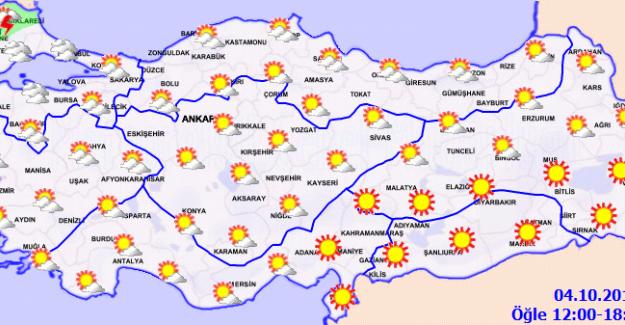 Sıcaklık Marmara ve Kuzey Ege'de Azalacak