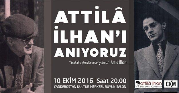Usta Şair Attilâ İlhan Kadıköy'de Anılacak