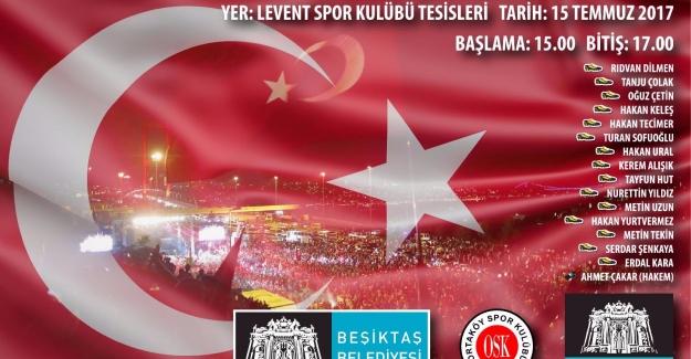 Beşiktaş Belediyesi 15 Temmuz Şehitleri Anısına Demokrasi Anıtı Açıyor