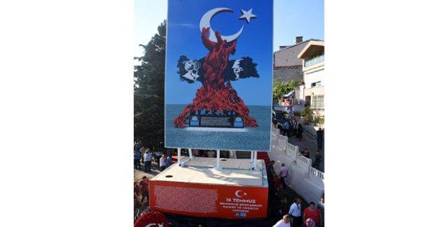 Beşiktaş'ta 15 Temmuz Demokrasi Anıtı'nın Temeli Atıldı