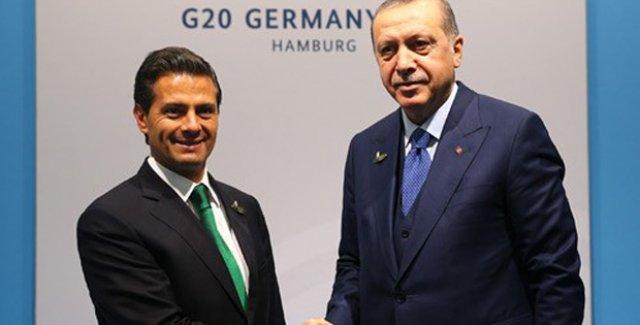 Cumhurbaşkanı Erdoğan, Meksika Devlet Başkanı Nieto ile Görüştü