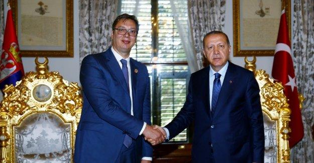 Cumhurbaşkanı Erdoğan Sırbistan Cumhurbaşkanı Vucic İle Görüştü