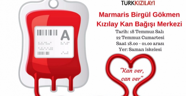 Marmaris'te Kan Bağış Kampanyası