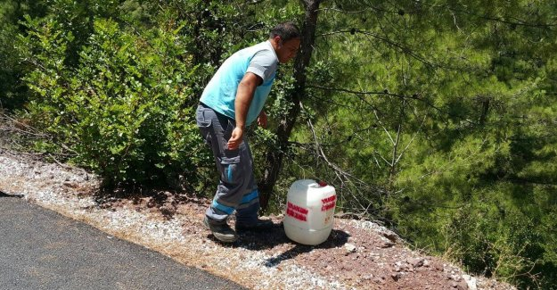 Marmaris'te Orman Yangınlarına Karşı Bidonlu Önlem