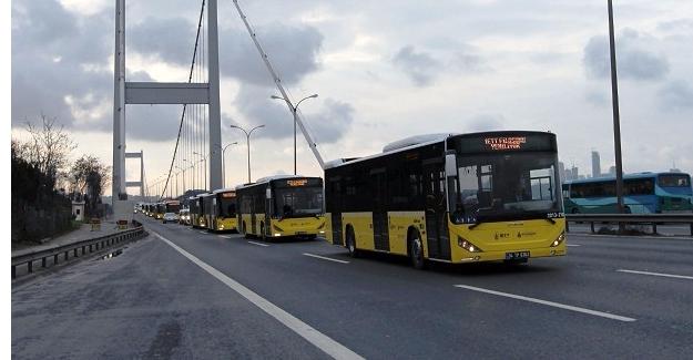 Metrobüs ve Otobüsler Aralıksız Çalışıyor