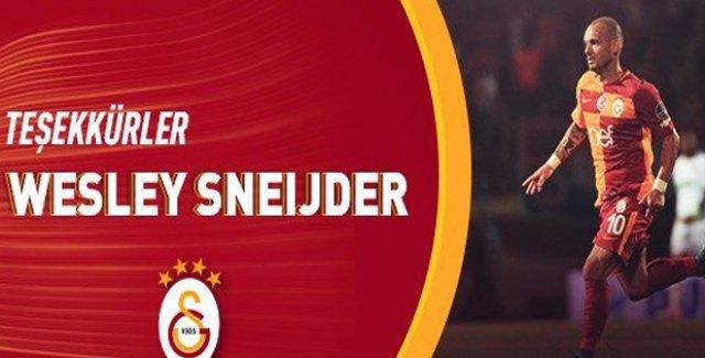 Sneijder Galatasaray'dan Ayrıldı
