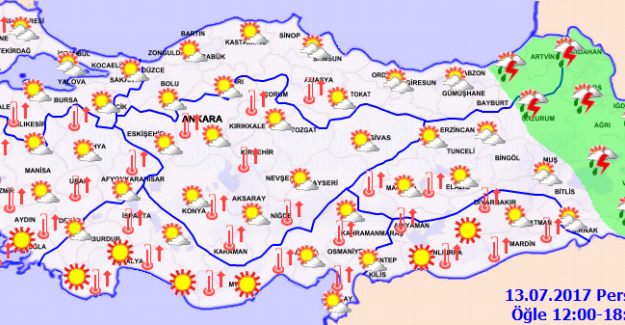 Türkiye'nin Doğusunda Yağış Bekleniyor