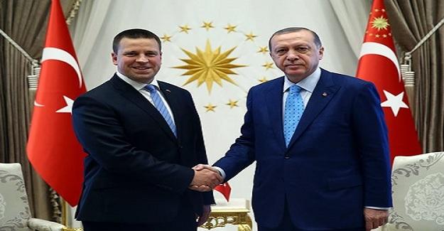 Cumhurbaşkanı Erdoğan Estonya Başbakanı Ratas'ı Kabul Etti