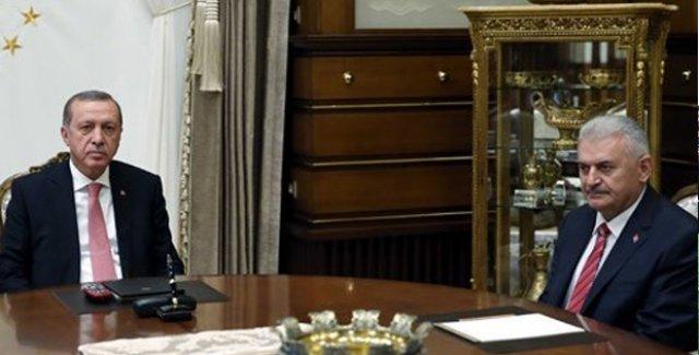 Cumhurbaşkanı Erdoğan İle Başbakan Yıldırım Yaş Öncesi Bir Araya Geldi