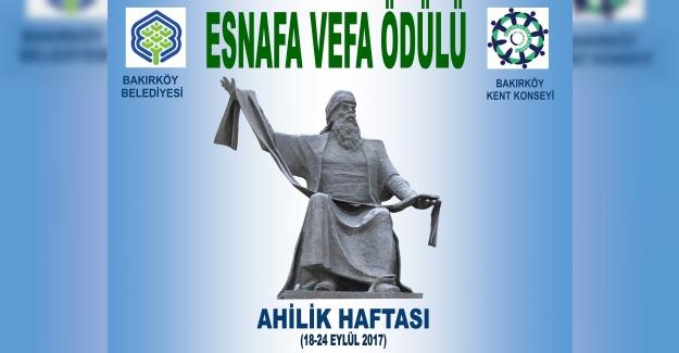 """Bakırköy'ün En Eski 15 Esnafına """"Esnafa Vefa Ödülü"""" Verilecek"""