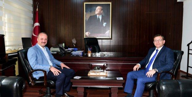 Başkan Akgül'den Yeni Kaymakam Polat'a Hayırlı Olsun Ziyareti