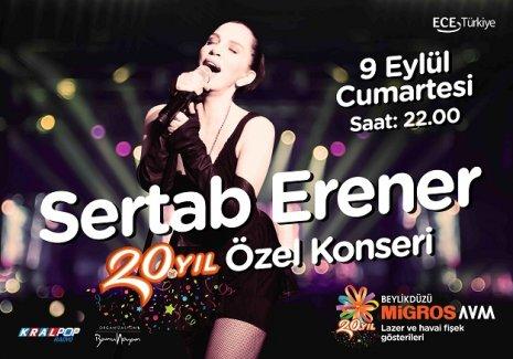 Beylikdüzü Migros AVM'de Sertab Erener'le 20. Yıl Kutlamaları