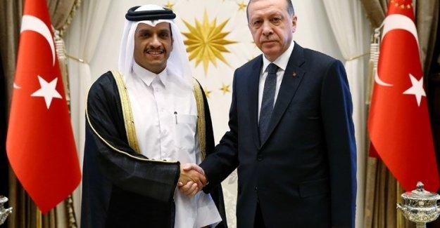 Cumhurbaşkanı Erdoğan Katar Dışişleri Bakanı El Sani'yi Kabul Etti