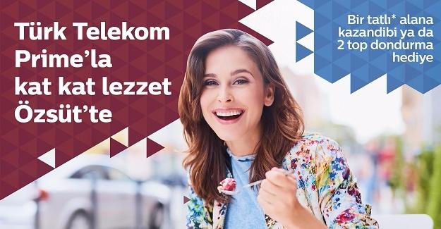 """Türk Telekom Prime ve Özsüt'ten """"Tatlı"""" Kampanyası"""