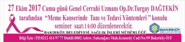 Bakırköy'de Meme Kanserinde Tanı Ve Tedavi Yöntemleri Semineri