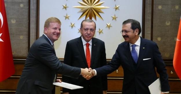 Cumhurbaşkanı Erdoğan ABD'li Heyetleri Kabul Etti