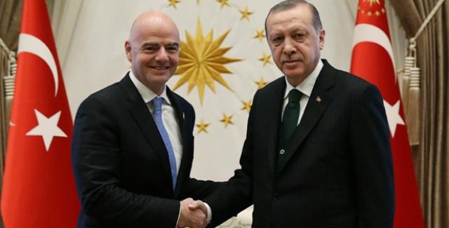 Cumhurbaşkanı Erdoğan FIFA Başkanı Infantino'yu Kabul Etti
