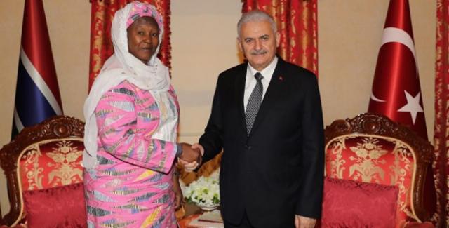 Başbakan Yıldırım, Gambiya Cumhurbaşkanı Yardımcısı Tambajang İle Görüştü