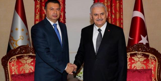 Başbakan Yıldırım, Tacikistan Mevkidaşı Rasulzoda İle Görüştü