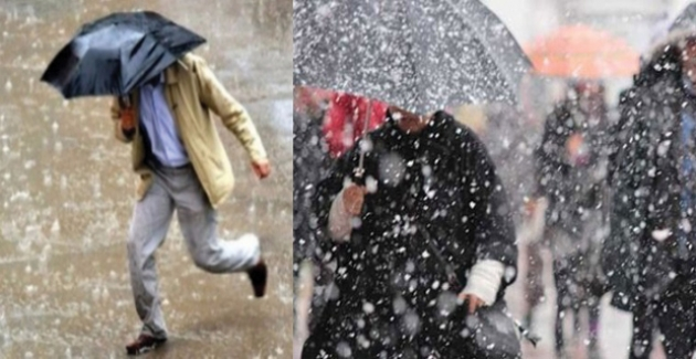 Trabzon, Rize, Artvin İçin Sağanak Yağmur, Btlis ve Hakkari İçin Kar Yağışı Uyarısı