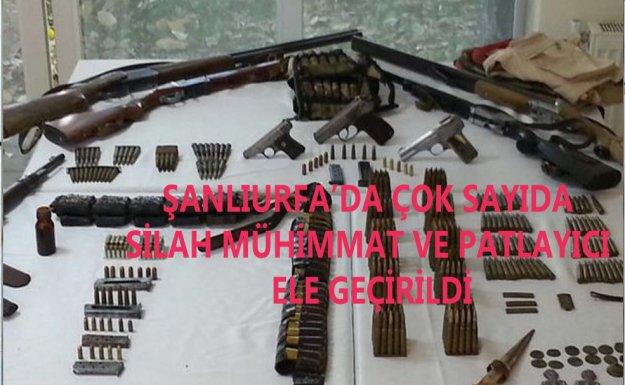 Şanlıurfa'da Çok Sayıda Silah,Mühimmat Ve Patlayıcı Yakalandı